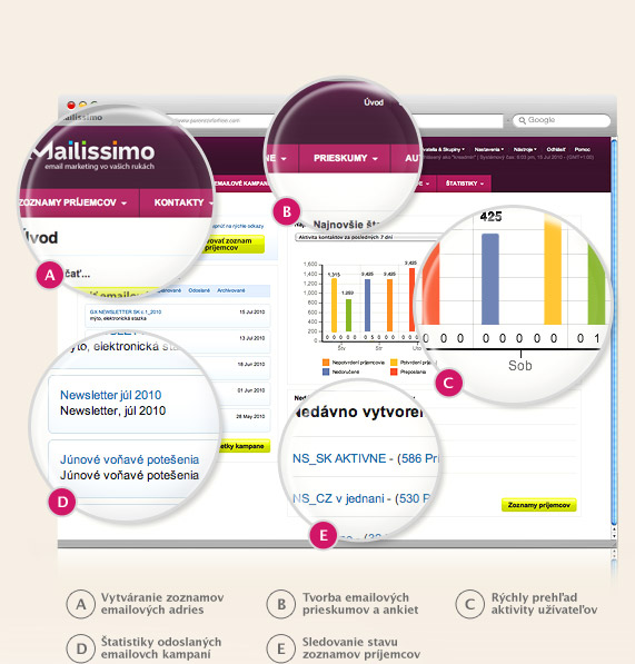 Mailissimo - Profesionálny e-mail marketing systém